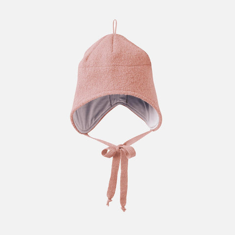 Organic Boiled Merino Hat - Rose - 1-5y