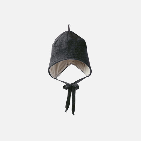 Organic Boiled Merino Hat - Anthracite - 1-5y