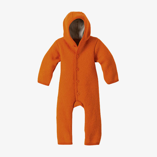 Organic Boiled Merino Wool Overall - Orange - 3-6m