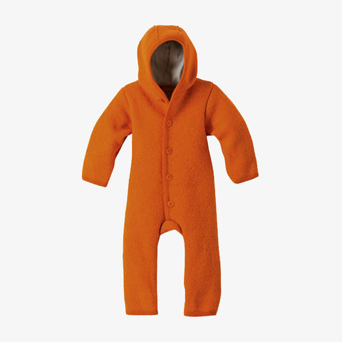 Organic Boiled Merino Wool Overall - Orange - 3m-2y