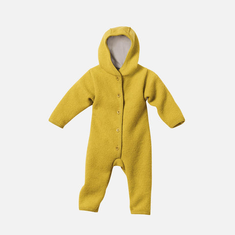 Organic Boiled Merino Wool Overall - Curry - 0m-2y