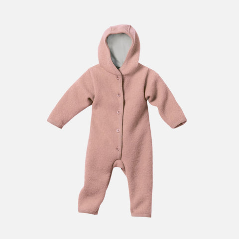 Organic Boiled Merino Wool Overall - Rose - 0m-2y