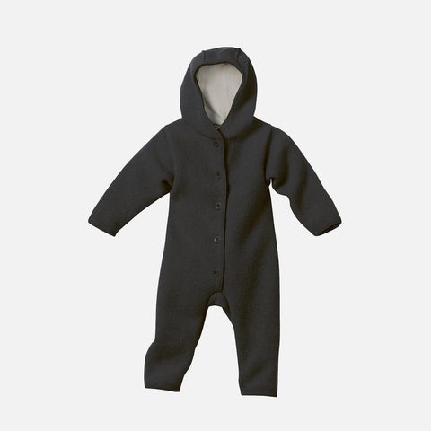 Organic Boiled Merino Wool Overall - Anthracite