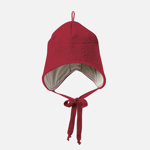 Organic Boiled Merino Hat - Bordeaux