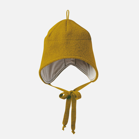 Organic Boiled Merino Hat - Gold