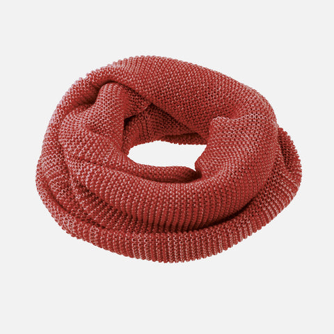 Kids Organic Merino Melange Loop Scarf - Bordeaux, Curry, Anthracite, Rose