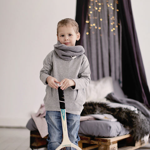 Organic Cotton Sture Sweatshirt - Grey Melange - 3-12m