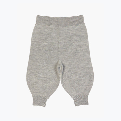 Merino Baby Pants - Light Grey - 6-12m