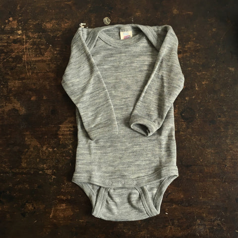 Organic Silk & Merino Wool Body - Grey - 0m-3y