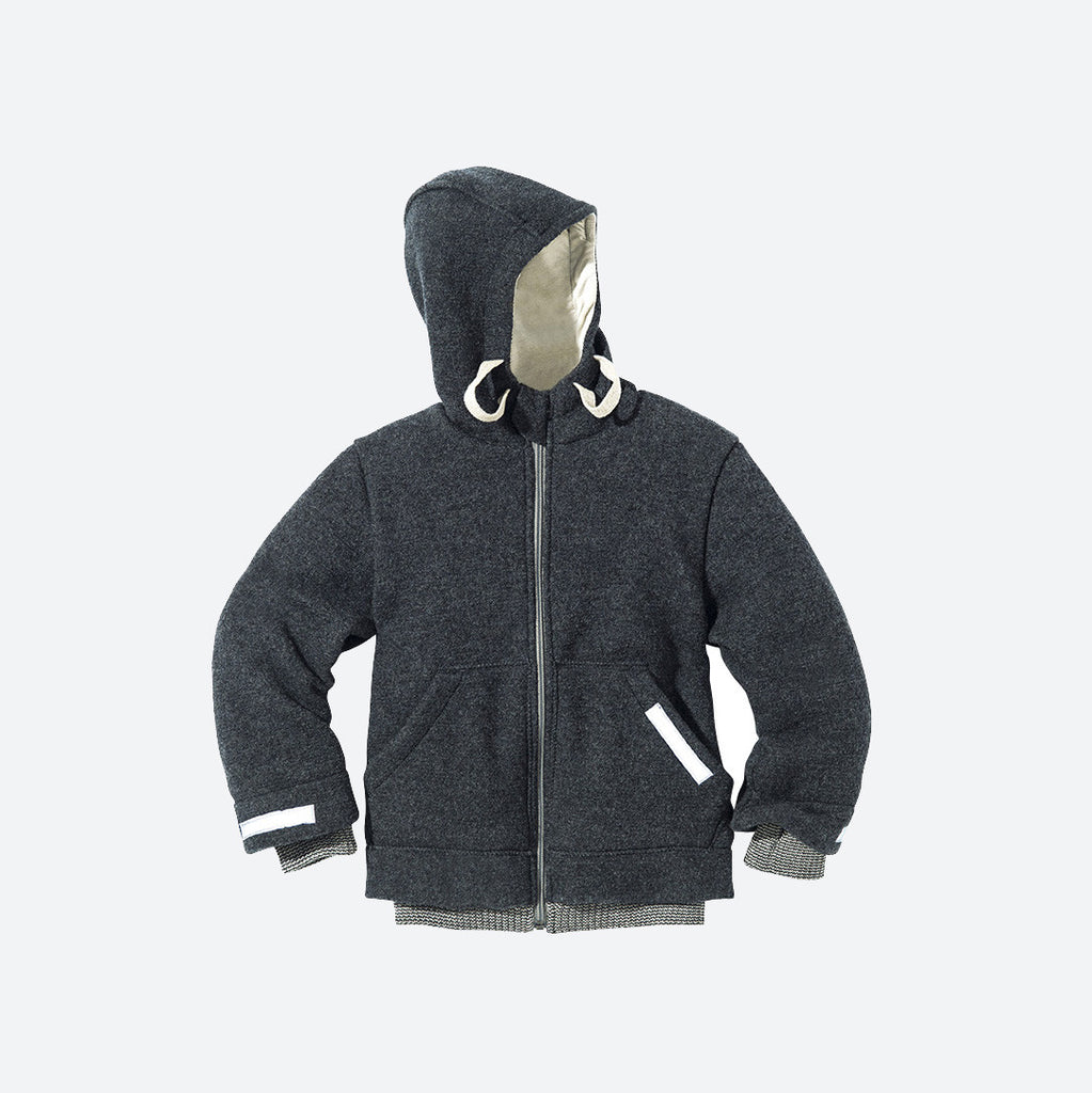 Famous Organic Boiled Wool Kids Zip Jacket - Anthracite - 4-10y – MamaOwl QV59