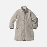 Organic Boiled Wool Kids Coat - Grey - 2-10y