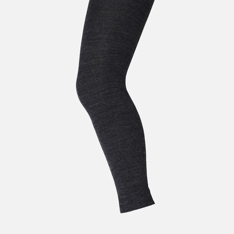 Wool/Cotton leggings - Dark Grey - 6y
