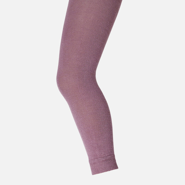 Wool/Cotton leggings - Old Rose - 4-7y
