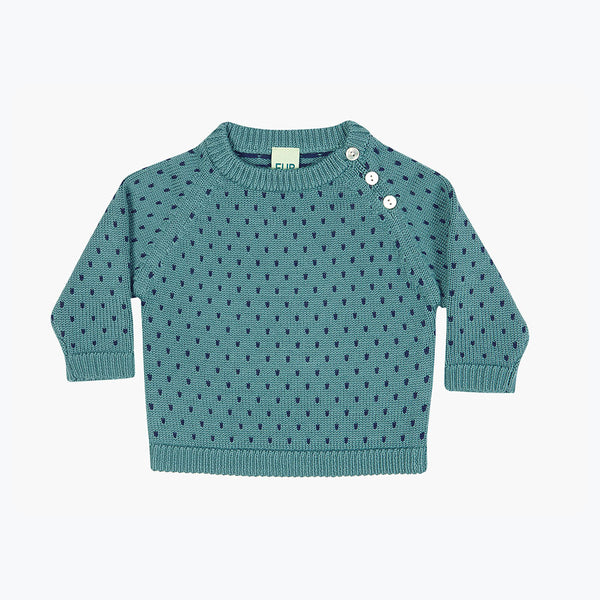Baby Snow Sweater - Jade - 6-24m