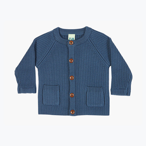 Chunky Baby jacket/cardigan - Denim - 3-9m