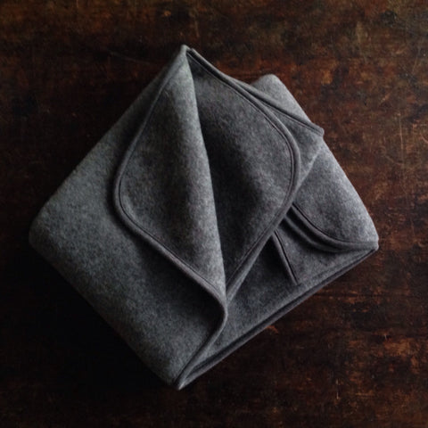 100% Organic Merino Wool Supersoft Fleece Baby Blanket - Slate