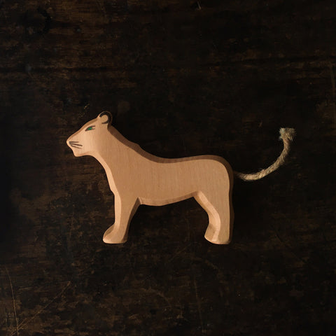 Handcrafted large standing lioness