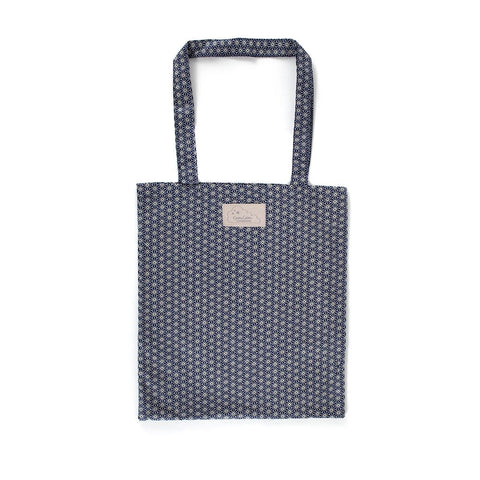 Organic Cotton Fabric Bag - Sashiko Blue