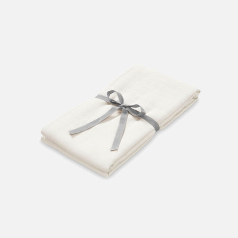 Organic Cotton Muslin Swaddle - Creme
