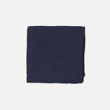 Organic Cotton Muslin Swaddle - Navy