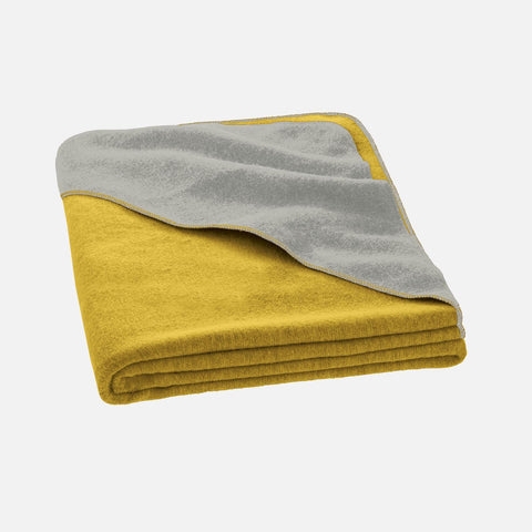 Organic Boiled Merino Blanket- Single - Curry