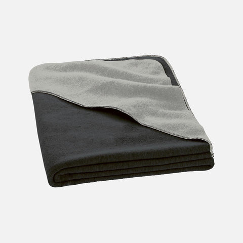 Organic Boiled Merino Kids Blanket - Anthracite