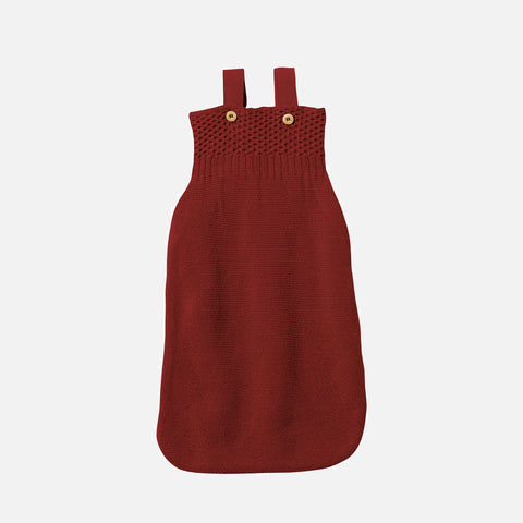 Knitted Organic Merino Wool Sleeping Bag - Bordeaux