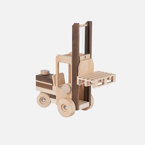 Natural Large Wood Forklift Truck