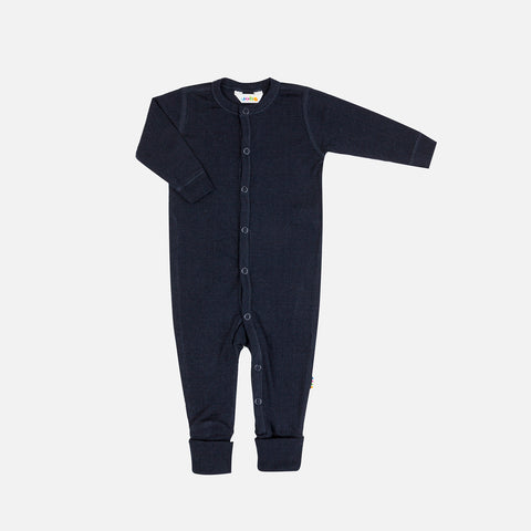 Merino Wool Pyjamas - Navy