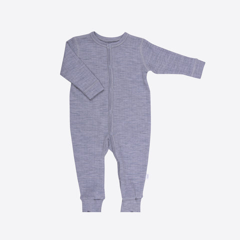 Merino Wool Pyjamas - Grey - 0m-3y