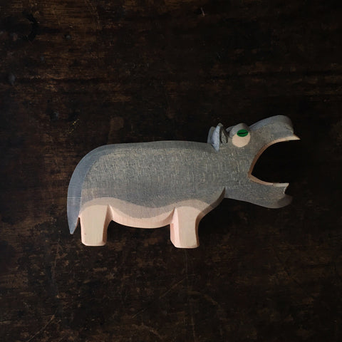 Handcrafted large hippo