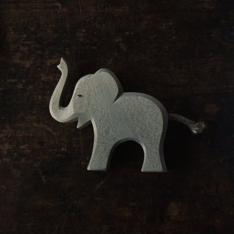 Handcrafted Small Trumpeting Baby Elephant