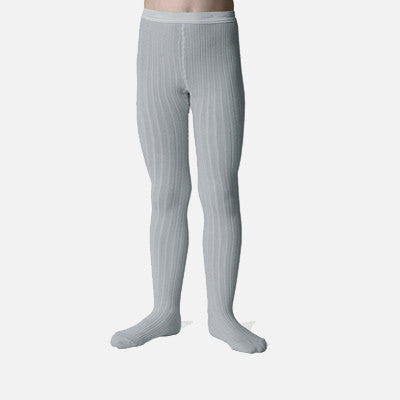 Babies & Kids Rib Tights - Light Grey - 0m-10y
