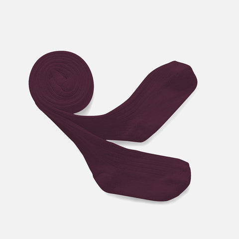 Babies & Kids Rib Tights - Aubergine - 0m-10y
