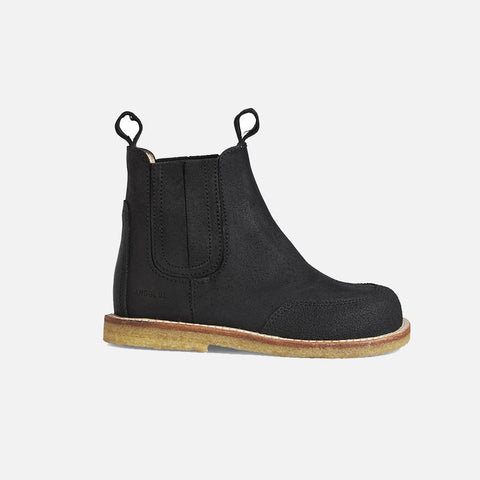 Chelsea Boots - Black Crepe - 24 (UK 7) - 31 (UK 13)