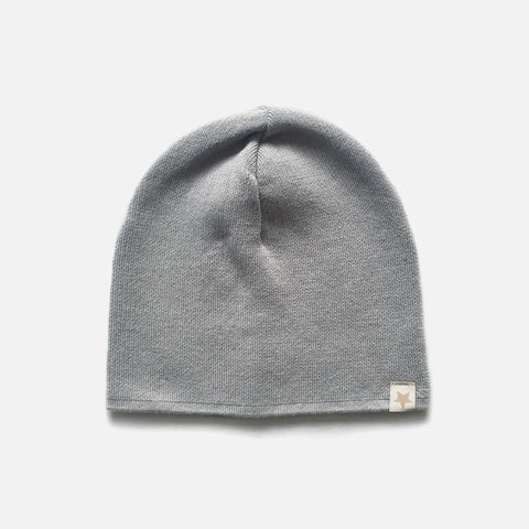 Cotton Beanie - Light Grey - 2-10y