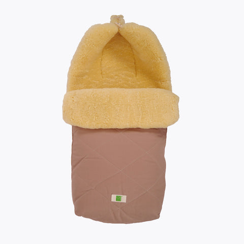 Organic Cotton/Sheepskin Universal Pushchair Footmuff - Sand