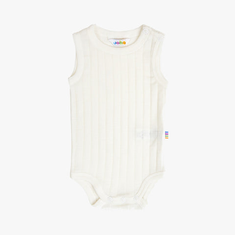 Merino/Silk Sleeveless Body - Natural - 0m-3y