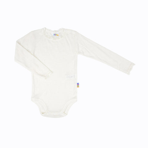 Merino wool/silk body with lace 0m-3y