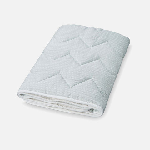 Organic Cotton Quilted Play Blanket - Sashiko Mint