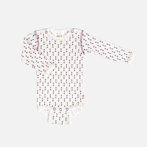 Thin Merino Wool Diamond Body - Rose - 0m-3y
