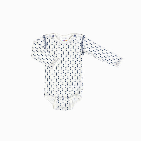 Thin Merino Wool Diamond Body - Blue - 0-5m