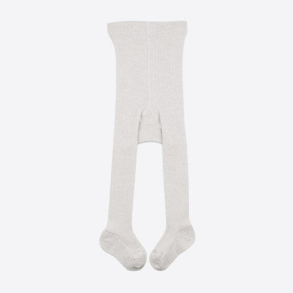 Fine Merino Wool/Cotton Kids Tights - Cloud - 3-6y