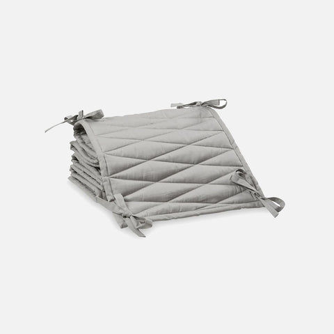 Organic Quilted Cot Bumper - Grey