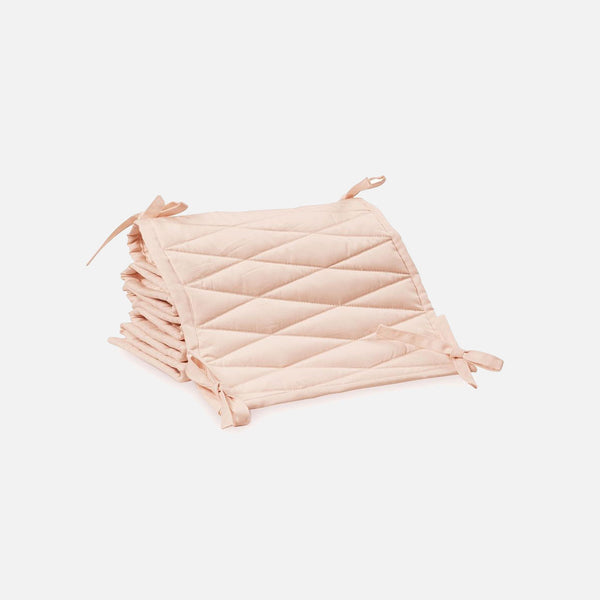 Organic Quilted Cot Bumper - Rose