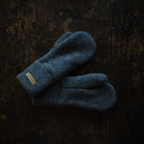 Merino Fleece Kids Mittens - Slate