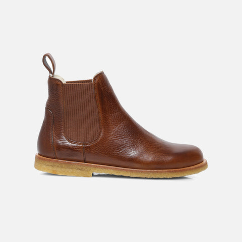 Women's Wool Lined Chelsea Boot - Cognac