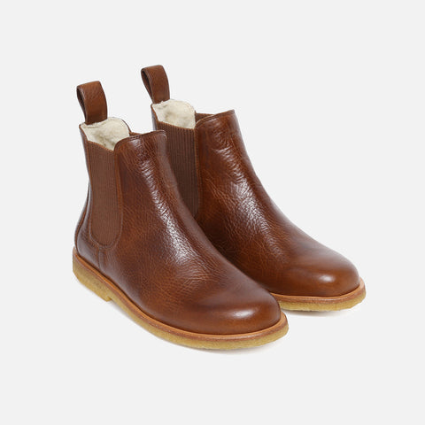 Women's Wool Lined Chelsea Boot -Cognac