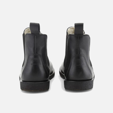 Women's Wool Lined Chelsea Boot - Black - 38 (UK 5.5) - 40 (UK 7.5)