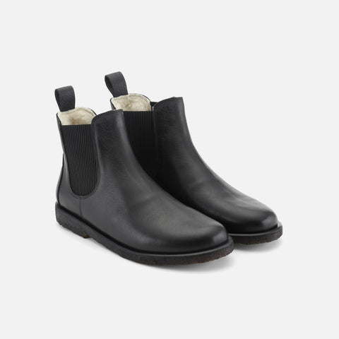 Women's Wool Lined Chelsea Boot - Black